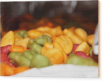 Tasty Snack Wood Print by Scott Dovey
