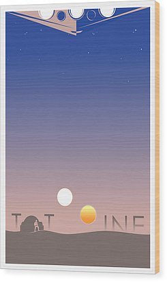 Tatooine Wood Print by Vincent Carrozza