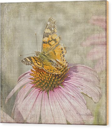 Tattered Butterfly Wood Print
