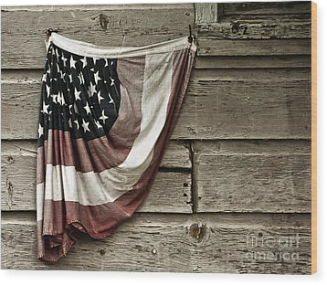 Wood Print featuring the photograph Tattered Glory by Vicki DeVico