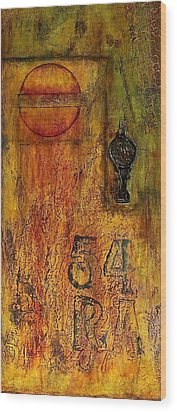 Tattered Wall  Wood Print