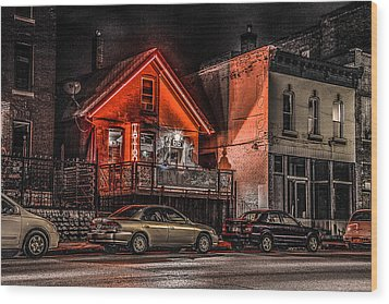 Tattoo Parlor  Wood Print by Ray Congrove