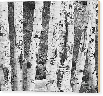 Tattoo Trees Wood Print