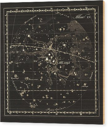 Taurus Constellation, 1829 Wood Print by Science Photo Library
