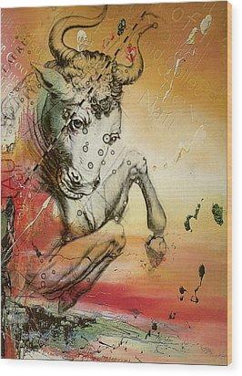 Taurus  Wood Print by Corporate Art Task Force