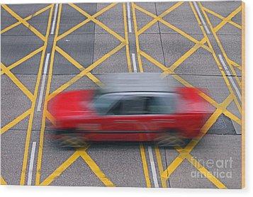 Taxi Wood Print by Lars Ruecker