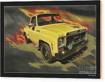 Taxicab Repair 1974 Gmc Wood Print by Blake Richards