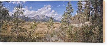 Wood Print featuring the photograph Taylor Creek Panorama by Jim Thompson