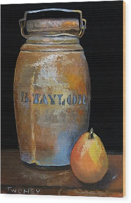 Taylor Jug With Pear Wood Print