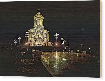 Tbilisi Church Wood Print by Gouzel -