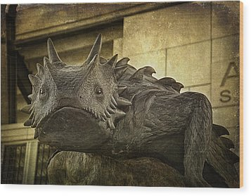 Tcu Horned Frog Wood Print by Joan Carroll