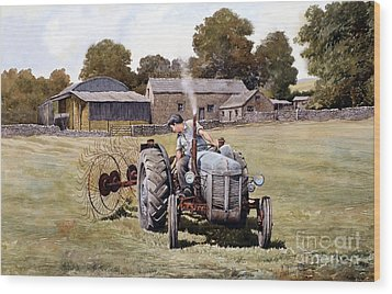 Te20-fergy In The Fields Wood Print by Anthony Forster