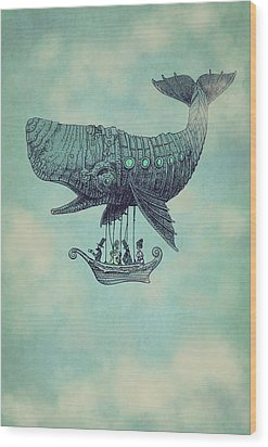Tea At Two Thousand Feet Wood Print by Eric Fan