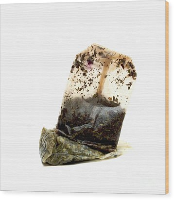 Tea Bag Wood Print by Bernard Jaubert