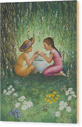Tea Party Wood Print by Lynn Bywaters