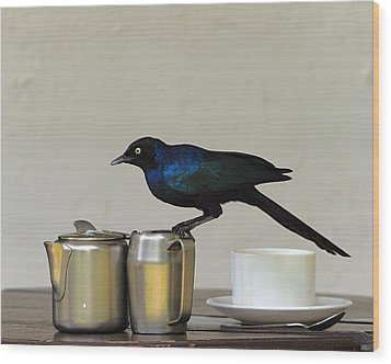 Tea Time In Kenya Wood Print by Tony Beck