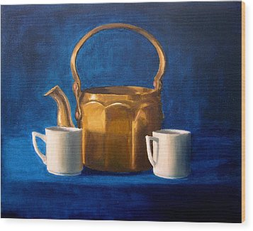 Wood Print featuring the painting Tea Time by Janet King