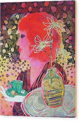 Teabag Wood Print by Diane Fine