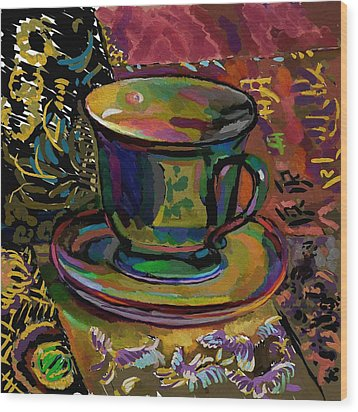 Wood Print featuring the digital art Teacup Study 1 by Clyde Semler