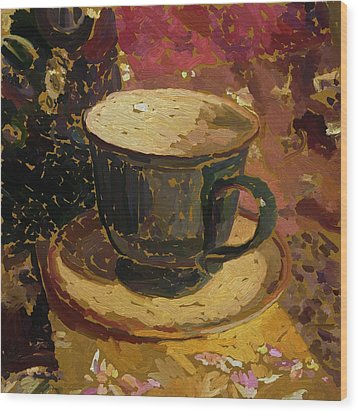 Teacup Study 2 Wood Print by Clyde Semler