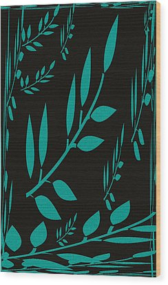 Teal Treasure Wood Print