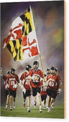 Team Maryland  Wood Print by Scott Melby