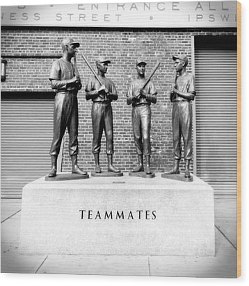 Teammates Wood Print by Greg Fortier