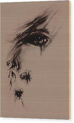 Tear Wood Print by Rachel Christine Nowicki