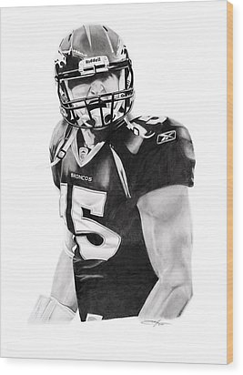Tebow Wood Print by Don Medina