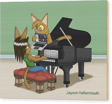 Musical Differences Wood Print
