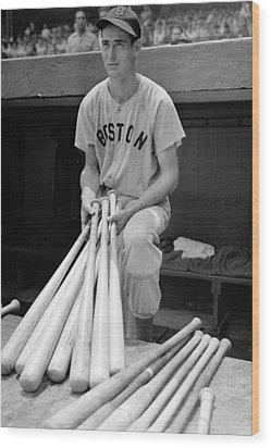 Ted Williams Wood Print by Gianfranco Weiss