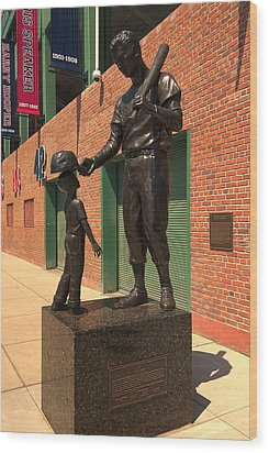 Ted Williams Wood Print by Paul Mangold