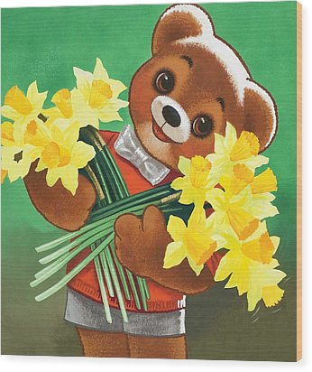 Teddy Bear Wood Print by William Francis Phillipps