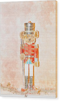 Teddy Nutcracker Wood Print