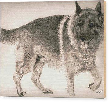 Teddy Wood Print by Rosanna Maria