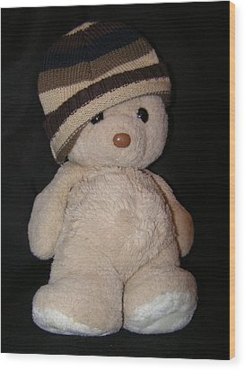 Teddy Wants To Hug You Wood Print by Catherine Ali