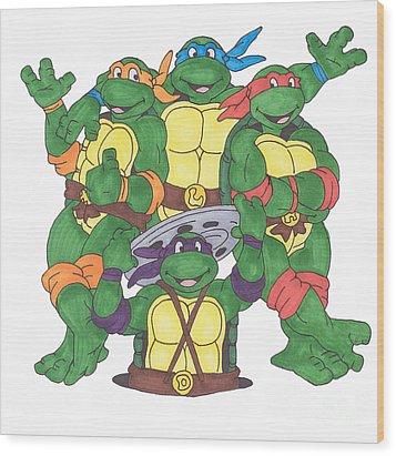 Teenage Mutant Ninja Turtles  Wood Print by Yael Rosen