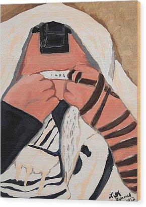 Tefillah- In Prayer Wood Print