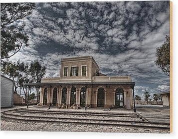 Wood Print featuring the photograph Tel Aviv First Railway Station by Ron Shoshani