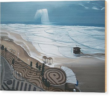 Wood Print featuring the painting Tel-aviv by Susan Roberts