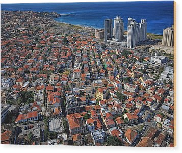 Wood Print featuring the photograph Tel Aviv - The First Neighboorhoods by Ron Shoshani