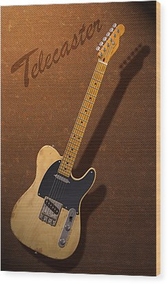 Telecaster Wood Print by WB Johnston