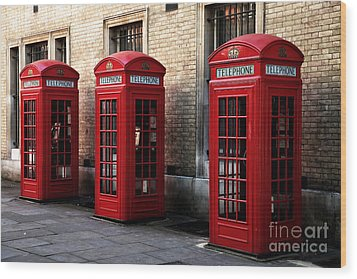 Telephone Choices Wood Print by John Rizzuto