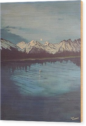 Telequana Lk Ak Wood Print by Terry Frederick