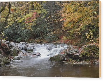 Wood Print featuring the photograph Telico River Cascade by Robert Camp