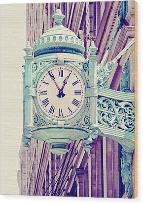 Telling Time Wood Print