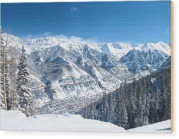 Telluride Snowscape Wood Print