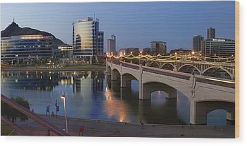 Tempe Town Lake Pano Wood Print