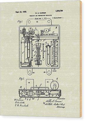 Temperature Regulator 1925 Patent Art Wood Print