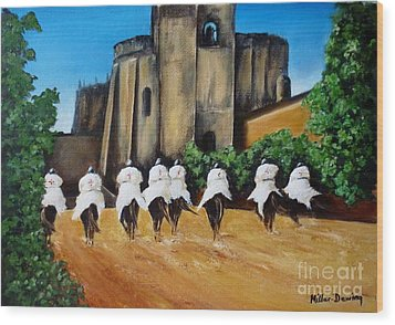 Templar Knights And The Convent Of Christ Wood Print